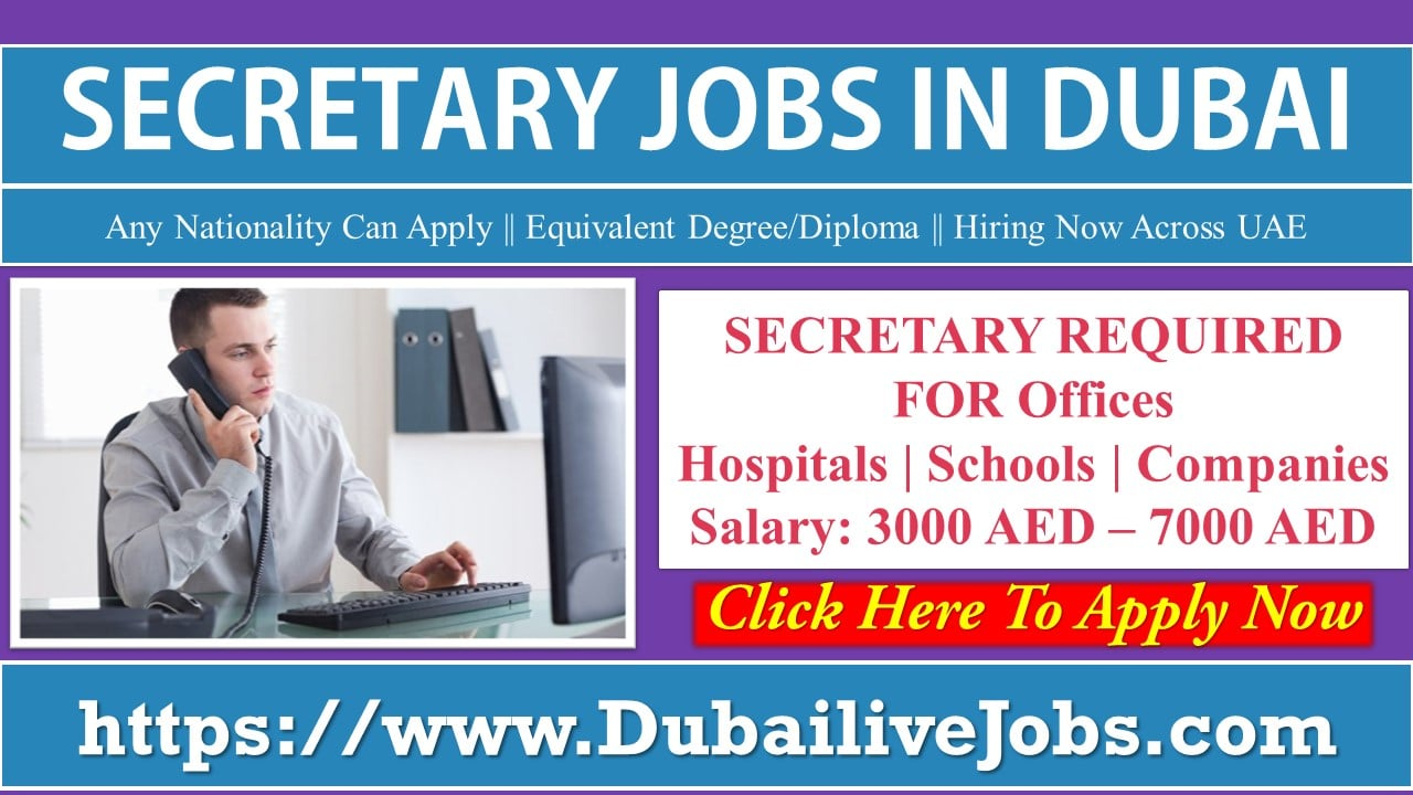 Secretary Jobs in Dubai