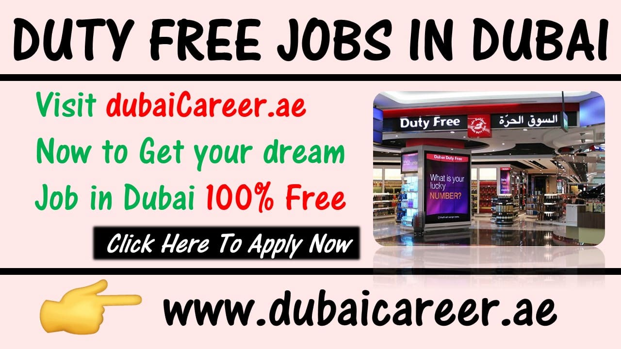 Duty free jobs in Dubai