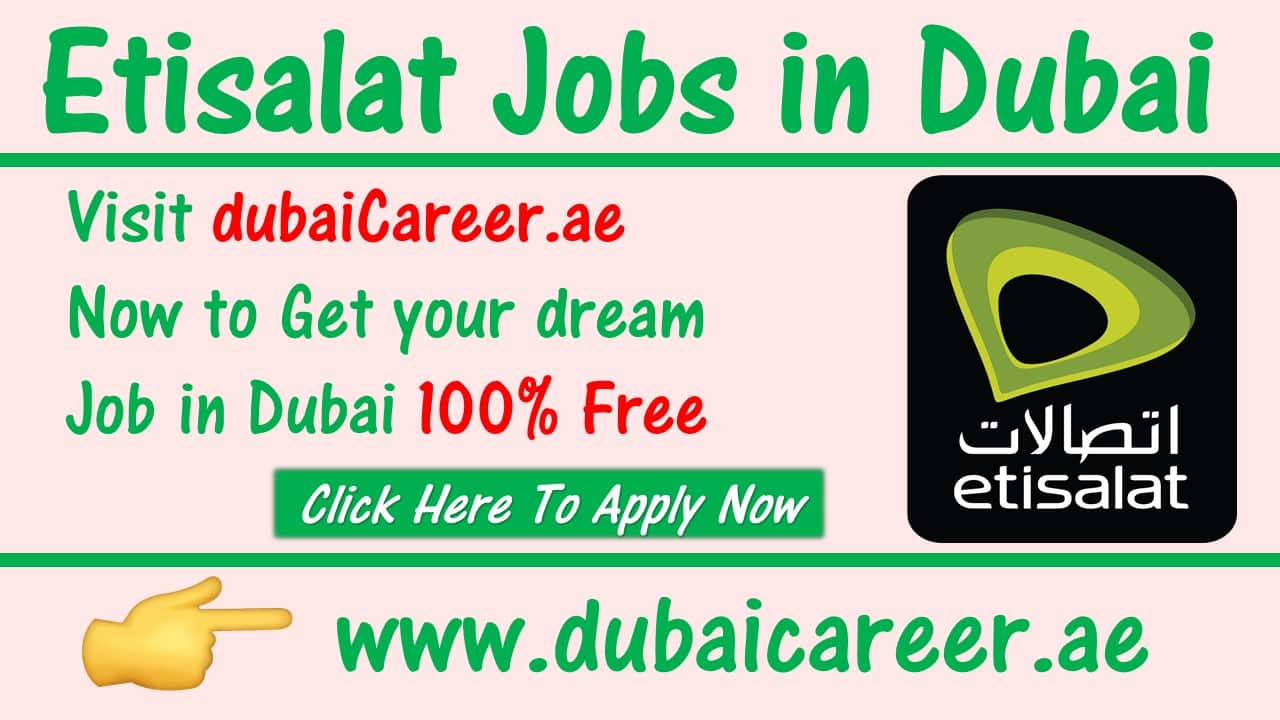 Etisalat careers in Dubai