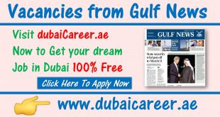 Gulf News Jobs Dubai