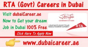 RTA Careers in Dubai